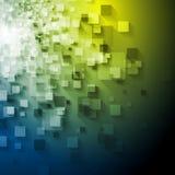 Diseño abstracto del vector de los cuadrados de la tecnología Fotos de archivo