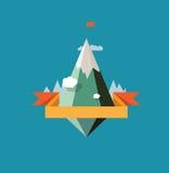 Diseño abstracto del vector del paisaje de la montaña Fotografía de archivo
