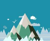 Diseño abstracto del vector del paisaje de la montaña Imagen de archivo libre de regalías
