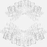 Diseño abstracto en metal plateado en el fondo blanco Imágenes de archivo libres de regalías