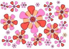 Diseño abstracto floral moderno en el fondo blanco Foto de archivo