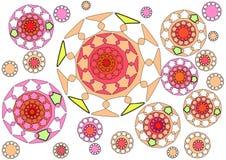 Diseño abstracto floral moderno en el fondo blanco Imagen de archivo libre de regalías