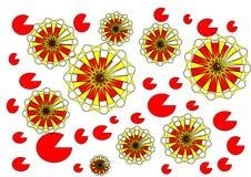 Diseño abstracto floral moderno en el fondo blanco Imágenes de archivo libres de regalías