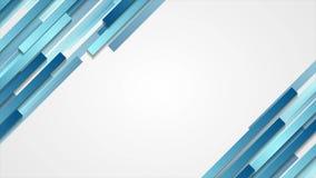 Diseño abstracto geométrico azul del movimiento de la tecnología