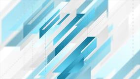 Diseño abstracto geométrico del movimiento de la tecnología del gris azul