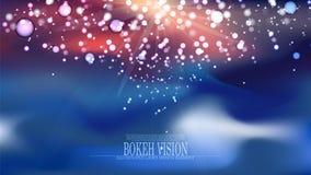 Diseño abstracto II del fondo de la visión del bokeh del vector Fotografía de archivo libre de regalías