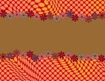 Diseño abstracto lindo con enmarcar de la margarita Foto de archivo