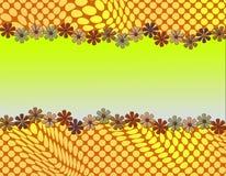 Diseño abstracto lindo con enmarcar de la margarita Imagenes de archivo