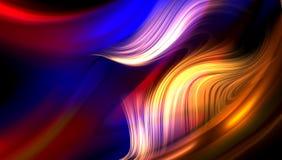 Diseño abstracto ondulado del vector del fondo, fondo sombreado borroso colorido, ejemplo vivo del vector del color