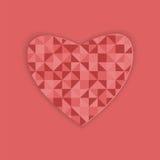 Diseño abstracto para el día de tarjeta del día de San Valentín Foto de archivo libre de regalías