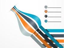 Diseño abstracto para infographic Imagen de archivo libre de regalías