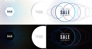 Diseño abstracto para la presentación, web, aterrizaje Gráficos creativos Composición del vector stock de ilustración