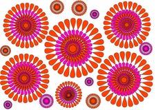 Diseño abstracto petalled floral moderno en el fondo blanco Fotografía de archivo libre de regalías