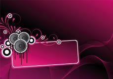 Diseño abstracto rosado del disco Foto de archivo libre de regalías
