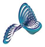 Diseño abstracto torcido azul Fotografía de archivo