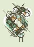 Diseño abstracto urbano Imágenes de archivo libres de regalías