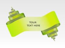 Diseño abstracto verde del papel de la voluta stock de ilustración