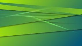 Diseño abstracto verde y azul del movimiento de las rayas