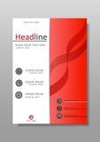 Diseño académico de la cubierta Conferencias, informes, diarios Vector Foto de archivo libre de regalías