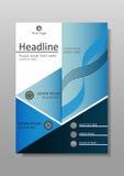 Diseño académico de la cubierta de libro Diarios, conferencias, artículos Vector Foto de archivo
