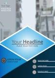 Diseño académico de la cubierta del diario A4 Vector Imagen de archivo