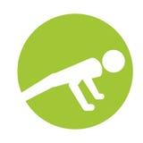 Diseño activo de la silueta del hombre del deporte ilustración del vector