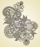 Diseño adornado de la flor Foto de archivo
