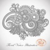 Diseño adornado de la flor stock de ilustración