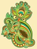 Diseño adornado de la flor Imagen de archivo libre de regalías