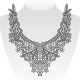 Diseño adornado del cuello Ilustración del vector fotografía de archivo libre de regalías