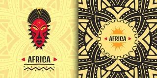 Diseño africano elegante de la bandera Fondo tribal étnico del arte libre illustration