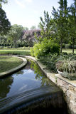Diseño agradable de los paisajes en Dallas Arboretum imagen de archivo