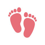 Diseño aislado de la impresión del pie del bebé libre illustration