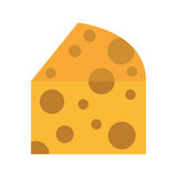 Diseño aislado pedazo del icono del queso stock de ilustración