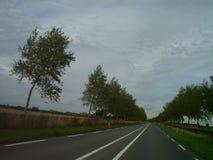 Diseño alemán típico de la carretera nacional foto de archivo libre de regalías