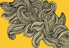 Diseño amarillo del fondo del modelo de Paisley libre illustration