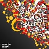 Diseño amarillo rojo de la esquina del arte abstracto ilustración del vector