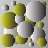 Diseño amarillo y gris del fondo de las bolas Imagen de archivo libre de regalías