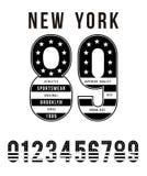 Diseño americano de la tipografía de la bandera determinada del número de Nueva York Fotos de archivo