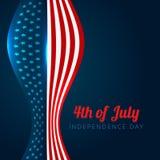 Diseño americano elegante del Día de la Independencia stock de ilustración