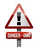 diseño amonestador del ejemplo de la señal de tráfico del gmo del peligro Imagen de archivo libre de regalías