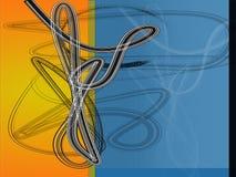 Diseño anaranjado azul Imagen de archivo