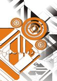 Diseño anaranjado, blanco y negro Foto de archivo