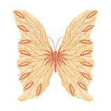 Diseño anaranjado de las ilustraciones del bordado de la mariposa para la ropa stock de ilustración