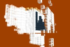 Diseño anaranjado del comercio Fotografía de archivo libre de regalías