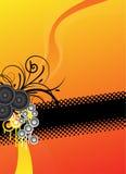 Diseño anaranjado del fondo de la música Fotografía de archivo libre de regalías