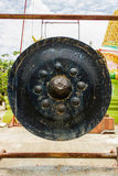 Diseño antiguo de la música del círculo del gongo imagenes de archivo