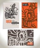 Diseño antiguo de la tarjeta de visita Fotografía de archivo libre de regalías