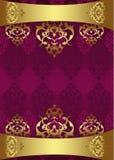 Diseño antiguo del oro del otomano Imágenes de archivo libres de regalías
