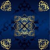 Diseño antiguo del oro del otomano Foto de archivo libre de regalías